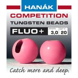 Hanák tungstenové hlavičky fluo ružová 20ks priemer: 2,5mm