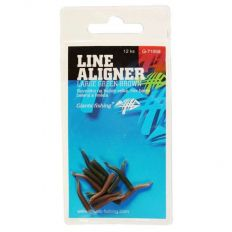 Giants Fishing Rovnátka na háčik Line Aligner-Small Green-Brown / 12PC