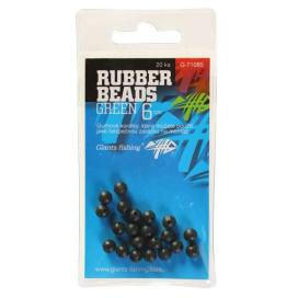 Giants Fishing Gumové guličky Rubber Beads Transparent Green 6mm, 20ks