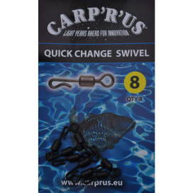 Carp'R'Us Quick Change Swivel - size 8, 8pcs