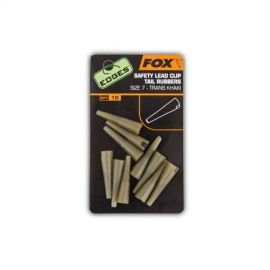 Fox Edges Safety Lead Clip Tail Rubbers vel.10 khaki 10ks